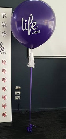 Personalised 3 foot balloon with tassel