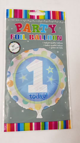 "Foil - 18"" - 1st Birthday (Blue) (E83201)"