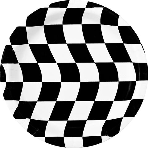 Plates - Dinner - Black & White Checkered (429944)