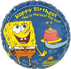 "Foil - 18"" - Sponge Bob (Happy Birthday) (83622)"