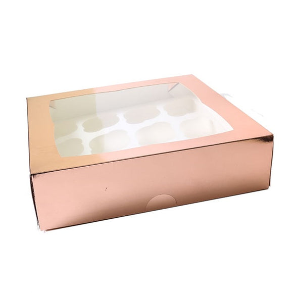 Cupcake Boxes (12) - Rose Gold