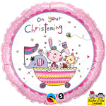 "Foil - 18"" - On Your Christening (Pink) (55043)"