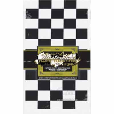 Tablecover - Black & White checkered (50938-BKW)