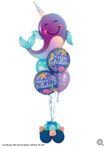 Whale It's Your Birthday! - Balloon Bouquet