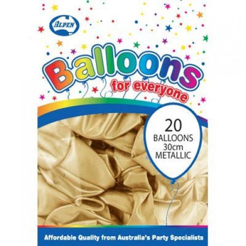 Balloons - Pkt 20 - Metallic Gold