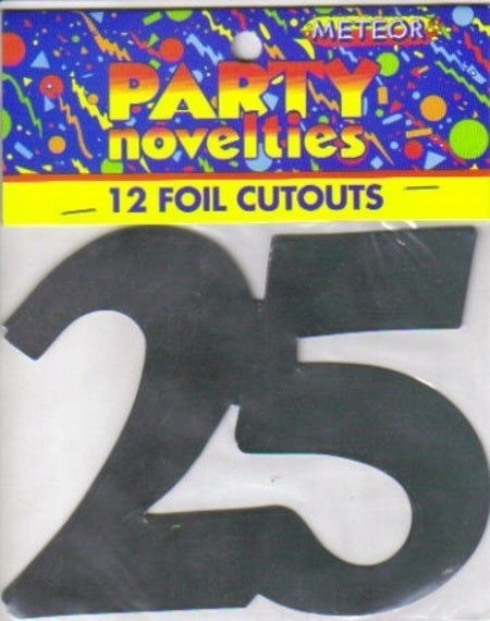 Foil Cutouts - 25th (Silver)