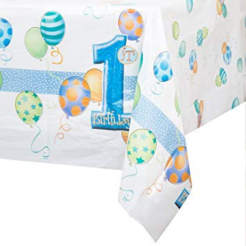 Tablecover - 1st Birthday Blue (23943)