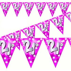 Bunting - 21st Pink (400209)