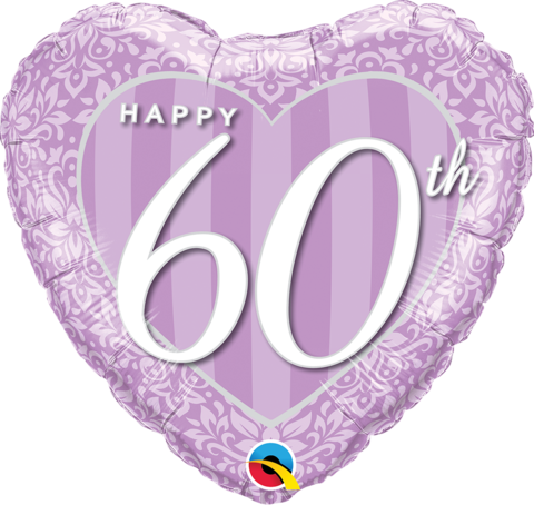 "Foil - 18"" - Happy 60th Anniversary"