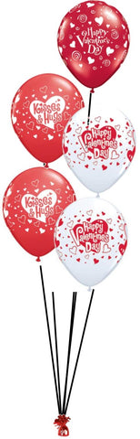 Valentine's Day Bouquet - 5 Balloons on weight