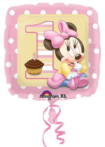 "Foil - 18"" - 1st Birthday Baby Minnie Mouse (23089)"