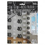 Hanging Decorations - 40th (Black) (55345)