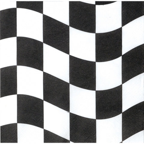 Napkins - Black & White Checkered (660944)