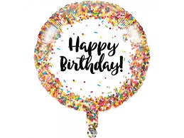 "Foil - 18"" - Happy Birthday - Sprinkles (324671)"