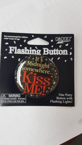 Flashing button - It's Midnight Somewhere - Kiss Me! (09-0165)