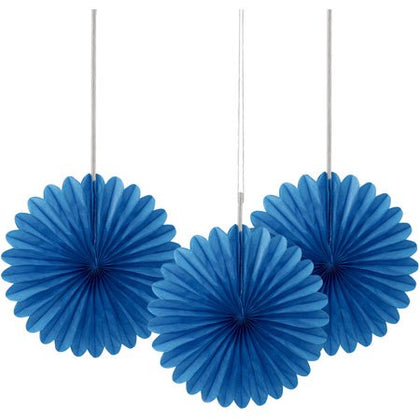 Paper Tissue Fan - Blue (033136)