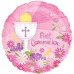 "Foil - 18"" - First Communion (Pink) (119100)"
