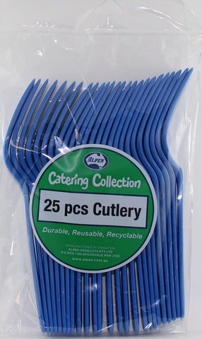 Fork - Pkt 25 - Royal Blue