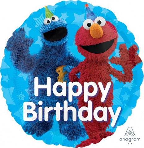 "Foil - 18"" - Sesame Street (Elmo & Cookie Monster) (34395)"