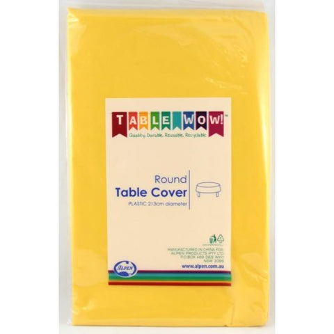 Tablecover - Round - Yellow