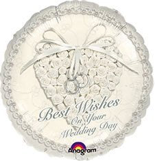 "Foil - 18"" - Best Wishes on Your Wedding Day (113600)"