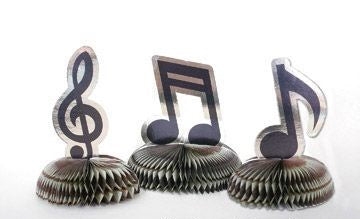 Mini Honeycomb Centrepiece - Music Notes