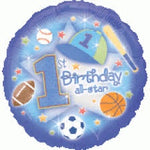 "Foil - 18"" - 1st Birthday Boy (119126)"