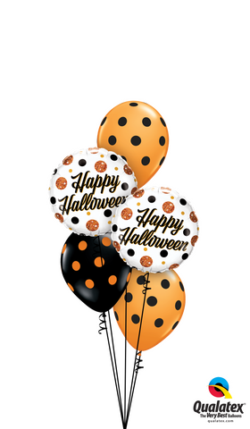 "Halloween Bouquet - 2 x 18"" foil 3 x Latex"