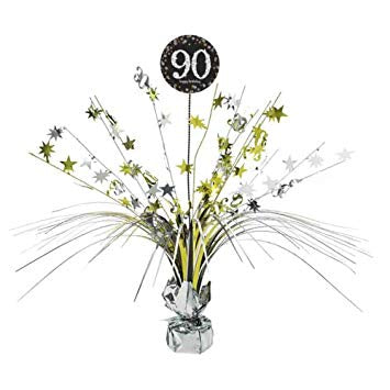Spangle Centrepiece - 90th (Gold/Black) (9901725)