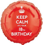 "Foil - 18"" - Keep Calm it's your 18th Birthday (26122)"