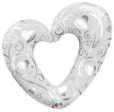 "Supershape - 42"" Heart - Silver"