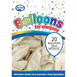 Balloons - Pkt 20 - Metallic White