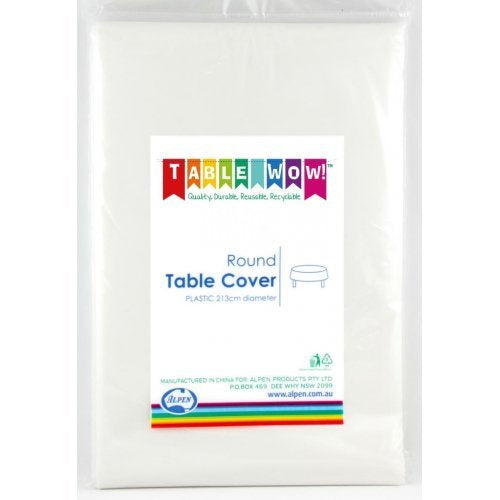 Tablecover - Round - White