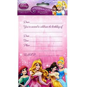 Invitation - Disney Princess