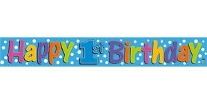 Banner - 1st Birthday (Blue) (408002)