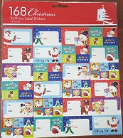 Christmas stickers - pkt 168 (AX161)