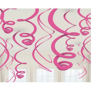 Hanging Swirl Decorations - 55cm - Pink (PP0210)