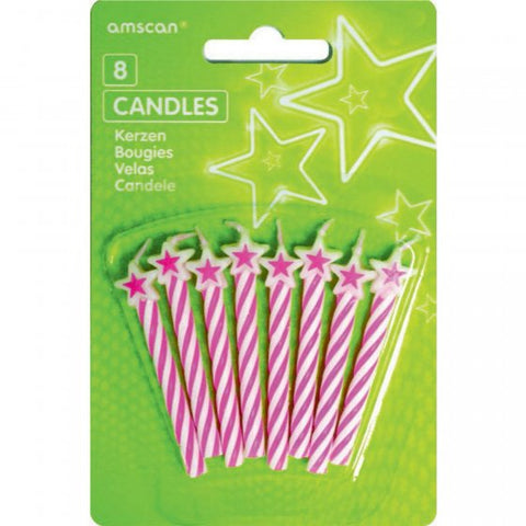 Candle Pink Stars Stripes (VN0005)