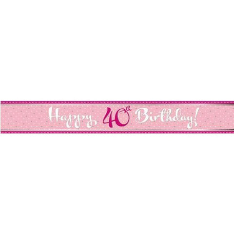 Banner - Happy 40th Birthday