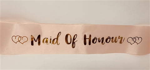 Sashes - Maid of Honour