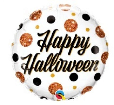 "Foil - 18"" - Halloween Sparkly Dots (89806)"