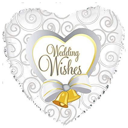 "Foil - 18"" - Wedding Wishes (214552)"