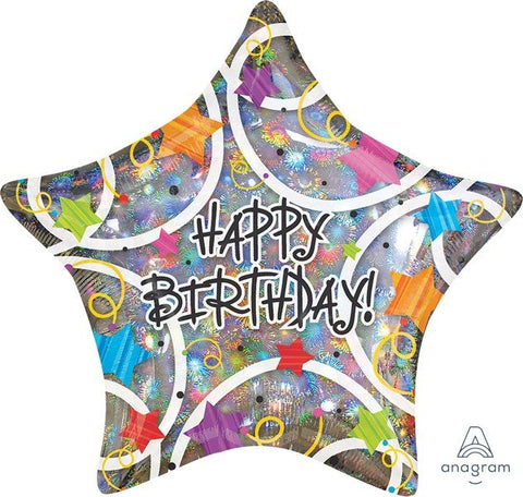 "Foil - 18"" - Happy Birthday Star (13501)"