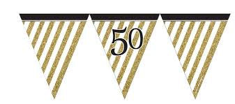 Flag Bunting - 50th (Gold & Black stripes) (M273)