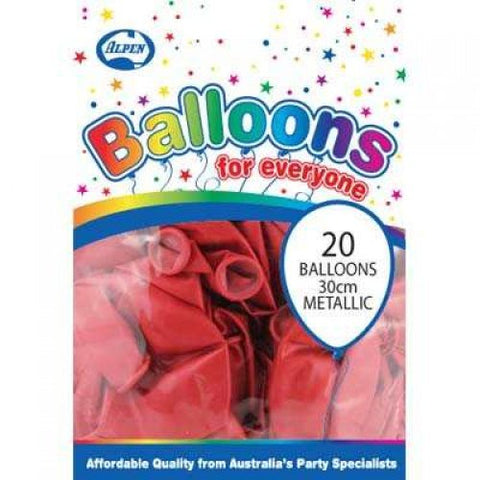 Balloons - Pkt 20 - Metallic Red
