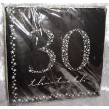 Napkins - 30th (E46703)