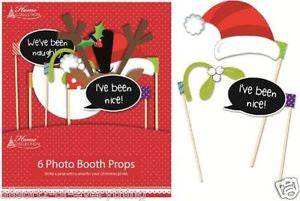 Photo Booth Props - Pkt 6 - Christmas (XPRP)