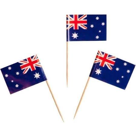 500 Minature Paper Flag Picks - Australian