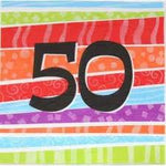 Napkins - 50th (Stripes)