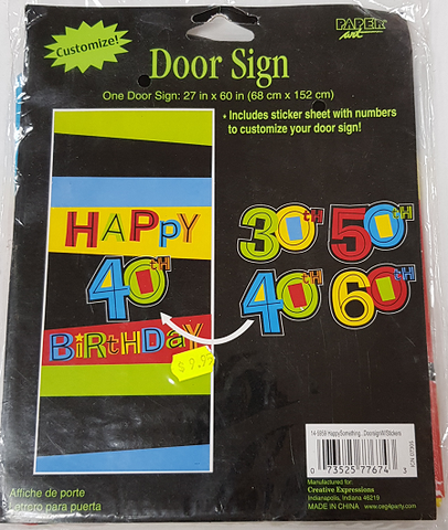 Door Sign with stickers